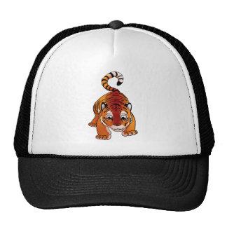 Tigre Cub anaranjado Gorras