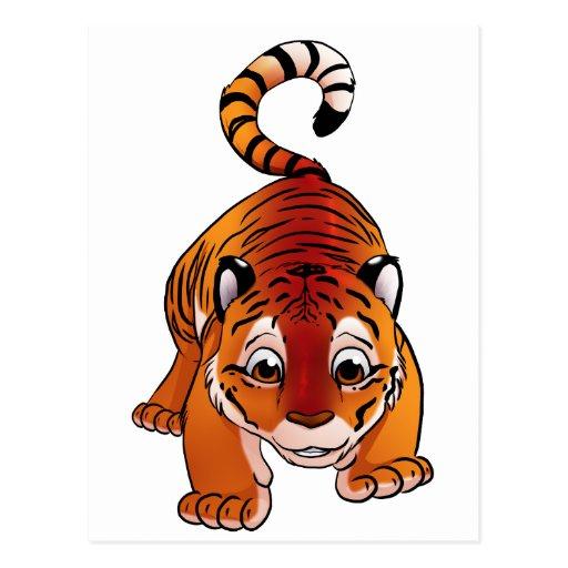Tigre Cub anaranjado Tarjetas Postales