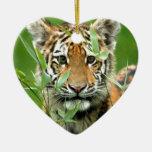 Tigre Cub de Amur Ornaments Para Arbol De Navidad