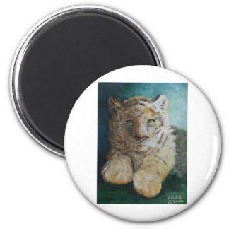 Tigre Cub Imán Redondo 5 Cm