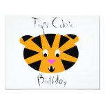Tigre Cub Invitación 10,8 X 13,9 Cm