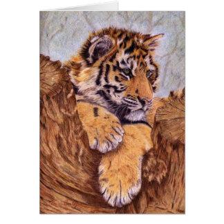Tigre Cub Notecards Tarjeta Pequeña