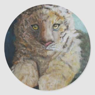 Tigre Cub Etiquetas Redondas