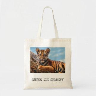Tigre Cub, salvaje en el corazón Bolsa Tela Barata