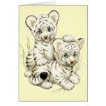 Tigre Cubs blanco lindo Felicitación