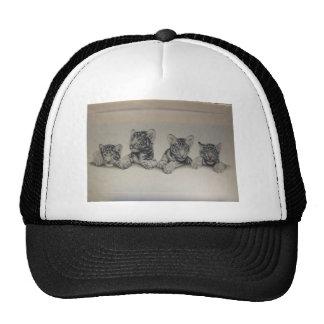 Tigre Cubs blanco raro Gorras De Camionero