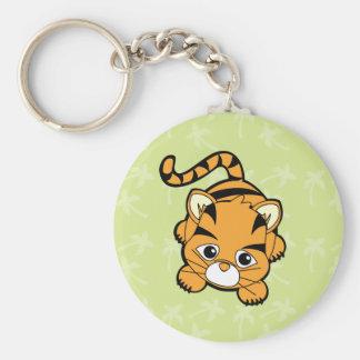 Tigre de bebé Cutie Llavero Redondo Tipo Pin