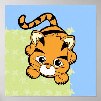 Tigre de bebé Cutie Póster
