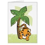 Tigre de bebé Cutie Tarjetas
