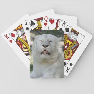 Tigre de Bengala blanco Baraja De Cartas