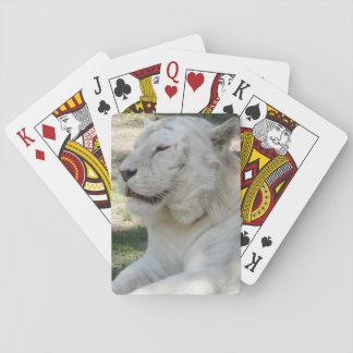 Tigre de Bengala blanco Cartas De Póquer