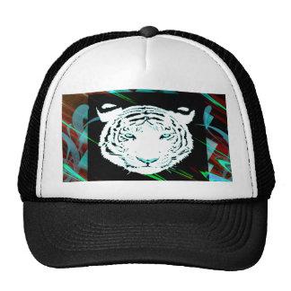Tigre de Bengala blanco en un fondo del estilo del Gorra