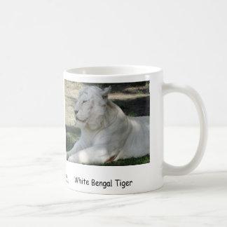 Tigre de Bengala blanco Taza De Café