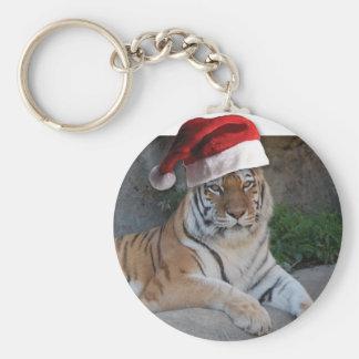 Tigre de Bengala del gorra de Santa Llavero Personalizado