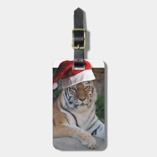 Tigre de Bengala del navidad Etiquetas Bolsas