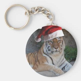 Tigre de Bengala del navidad Llavero