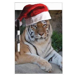 Tigre de Bengala del navidad Pizarra Blanca