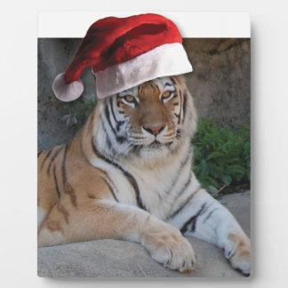 Tigre de Bengala del navidad Placas Con Foto