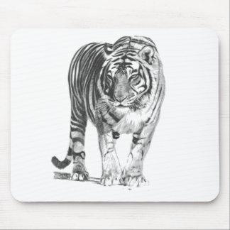 Tigre de Bengala dibujado mano realista con el Tapete De Raton