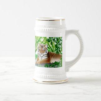 Tigre de Bengala en la selva Stein Tazas De Café
