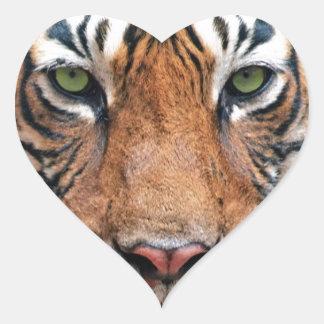 Tigre de Bengala Calcomanía Corazón Personalizadas