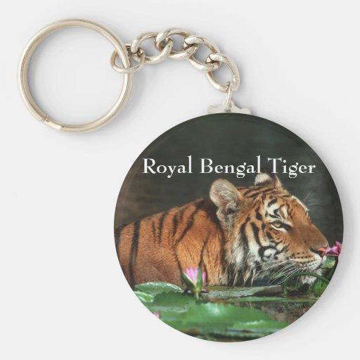 Tigre de Bengala real Llaveros