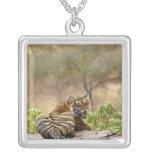 Tigre de Bengala real que gruñe, Ranthambhor Colgante Personalizado