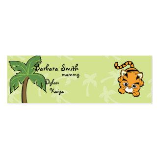 Tigre de Cutie Plantilla De Tarjeta Personal