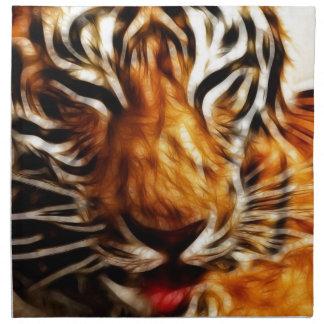Tigre de Fractalius Servilleta Imprimida