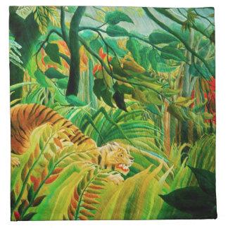 Tigre de Henri Rousseau en servilletas tropicales