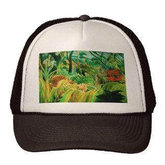 Tigre de Henri Rousseau en un gorra tropical de la