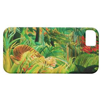 Tigre de Henri Rousseau en una tormenta tropical iPhone 5 Case-Mate Cobertura