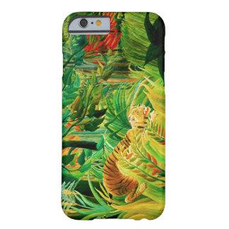 Tigre de Henri Rousseau en una tormenta tropical Funda De iPhone 6 Barely There