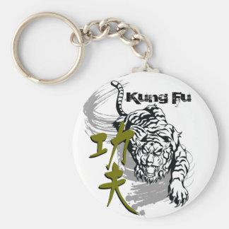 Tigre de Kung Fu para el amo del arte marcial por Llavero Personalizado
