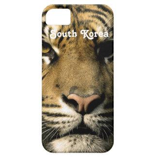 Tigre de la Corea del Sur Funda Para iPhone 5 Barely There