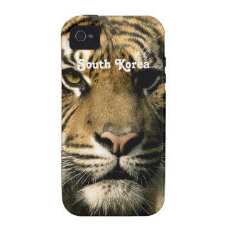 Tigre de la Corea del Sur Vibe iPhone 4 Funda