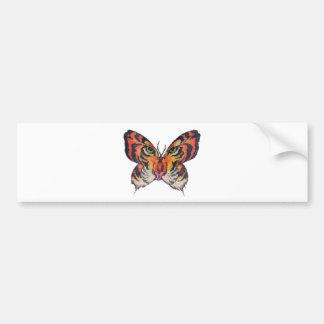 tigre de la mariposa de la diversión pegatina de parachoque