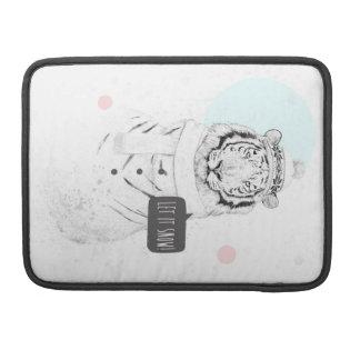 Tigre de la nieve fundas macbook pro