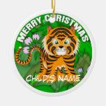 Tigre de las Felices Navidad Adorno Para Reyes