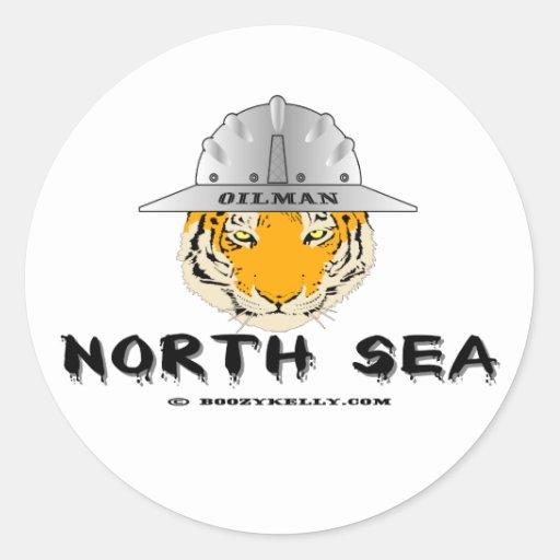 Tigre de Mar del Norte, pegatina del campo