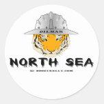 Tigre de Mar del Norte, pegatina del campo petrolí