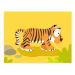 Tigre de mi serie de los animales del mundo tarjeta postal