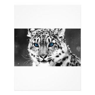 Tigre de ojos azules plantillas de membrete