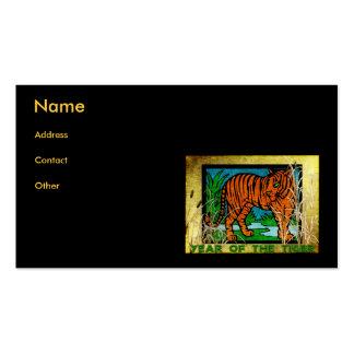 Tigre de oro plantillas de tarjetas personales