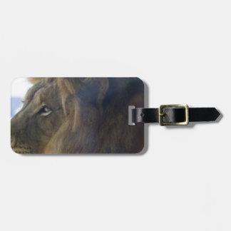 tigre de reclinación etiqueta para maleta