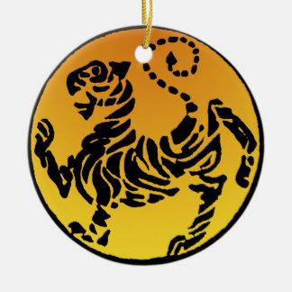 Tigre de Shotokan - oro Ornaments Para Arbol De Navidad