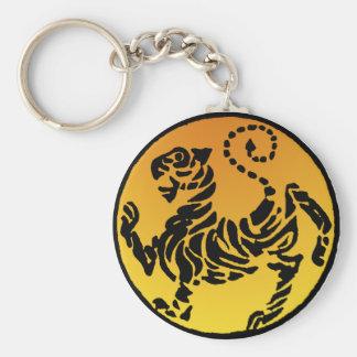 Tigre de Shotokan - oro Llavero Redondo Tipo Pin
