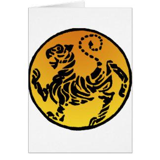 Tigre de Shotokan - oro Felicitaciones