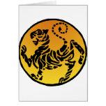 Tigre de Shotokan - oro Tarjeta De Felicitación