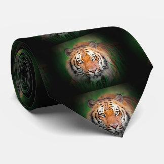Tigre de Sumatran Borneo Corbatas Personalizadas
